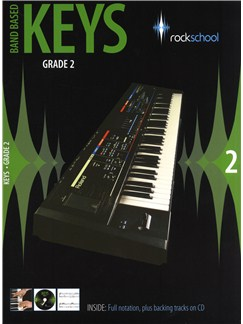 Rockschool: Band Based Keys - Grade 2 Books and CDs | Keyboard