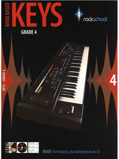 Rockschool: Band Based Keys - Grade 4 Books and CDs | Keyboard