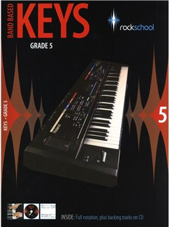 Rockschool: Band Based Keys - Grade 5 Books and CDs | Keyboard