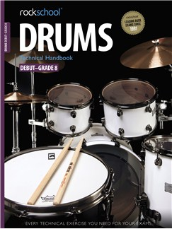 Rockschool: 2012-2018 Drums Technical Handbook - Grades Debut-8 Books and CDs | Drums