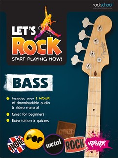 Let's Rock Bass – Start Playing Now! Books | Bass Guitar