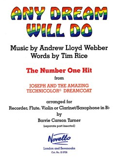 Any Dream Will Do Books | Recorder, Flute, Violin, Clarinet, Tenor Saxophone