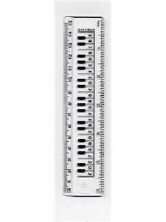 Music Gifts: Ruler Keyboard Clear 15cm/6ins  |