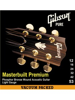 Gibson: Masterbuilt Premium Phosphor Bronze Acoustic Guitar Strings 12-53    Acoustic Guitar