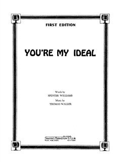 Thomas Waller: You're My Ideal Books | Piano, Vocal & Guitar