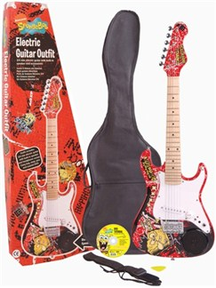 Spongebob Squarepants: 3/4 Size Electric Guitar With Built In Amplifier Instruments | Electric Guitar