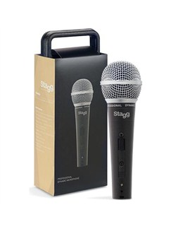Stagg: DC78 Professional Cardioid Dynamic Microphone With Cartridge  | Voice
