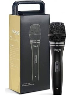 Stagg: Professional Cardioid Dynamic Microphone With Cartridge DC90  | Voice