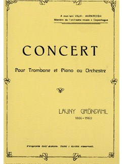 Launy Grondahl: Concert for Trombone and Piano Books | Trombone, Piano