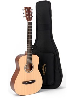 Sigma Guitars: TM-12 Travel Guitar With Gig Bag Instruments | Acoustic Guitar
