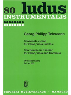 Georg Philipp Telemann: Trio Sonata in C minor for Oboe, Viola and Continuo Books | Oboe, Viola, Continuo