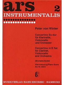 Peter Von Winter: Concertino In E Flat For Clarinet, Cello And Orchestra (Piano Score) Books | Clarinet, Cello, Piano Accompaniment