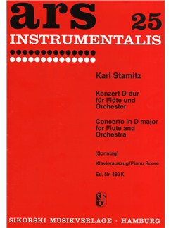 Karl Stamitz: Concerto In D Books | Flute, Piano Accompaniment