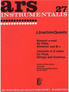 Joann Joachim Quantz: Concerto in E-Minor - Piano Score Books | Flute, Piano Accompaniment