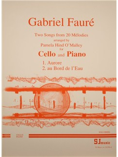Gabriel Faure: Two Songs From 20 Melodies (Cello/Piano) Books | Cello, Piano Accompaniment