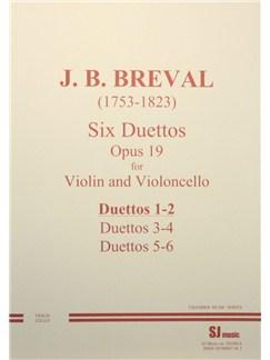 Jean-Baptiste Breval: Duets Op.19 Nos.1-2 (Violin and Cello) Books | Violin, Cello