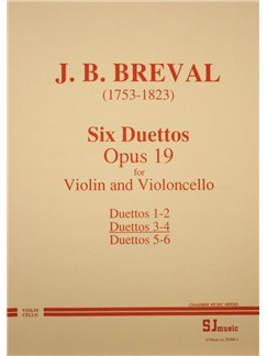 Jean-Baptiste Breval: Duets Op.19 Nos.3-4 (Violin and Cello) Books | Violin, Cello