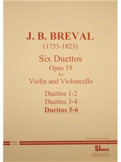 Jean-Baptiste Breval: Duets Op.19 Nos.5-6 (Violin and Cello) Books | Violin, Cello