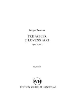 Jørgen Bentzon: Tre Fabler 2. Lovens Part - Op.26 No.2 Books | SATB