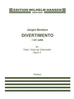 Jørgen Bentzon: Divertimento Op.2 (Score) Books | Violin, Viola, Cello