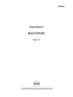 Jørgen Bentzon: Racconto, Op. 25 (Parts) Books | Flute, Saxophone, Bassoon, Double Bass