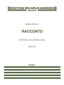 Jørgen Bentzon: Racconto, Op. 25 (Score) Books | Flute, Saxophone, Bassoon, Double Bass