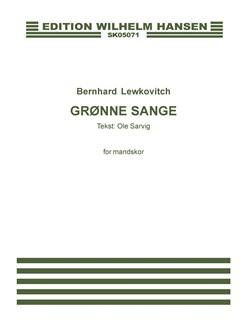 Bernhard Lewkovitch: Grønne Sange (TTBB) Bog | TTBB