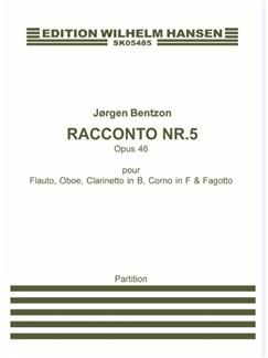 Jørgen Bentzon: Racconto Nr. 5, Op. 46 (Score) Bog | Blæserkvintet