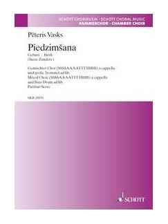 Pēteris Vasks: Piedzimšana Books | SSSSAAAATTTTBBB, Choral
