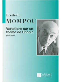 Federico Mompou: Variations Sur Un Theme De Chopin Books | Piano