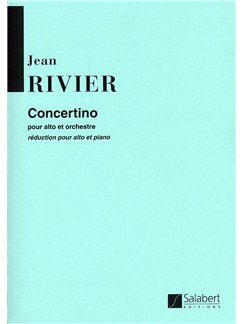 Jean Rivier: Concertino Pour Alto (Viola  and Piano) Books | Viola, Piano Accompaniment