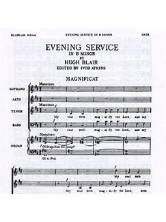 Hugh Blair: Magnificat And Nunc Dimittis In B Minor Digital Sheet Music | SATB