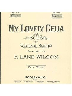 George Munro: My Lovely Celia Digital Sheet Music | Piano & Vocal