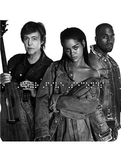 Rihanna: FourFiveSeconds (feat. Kanye West and Paul McCartney) Digital Sheet Music | Easy Piano