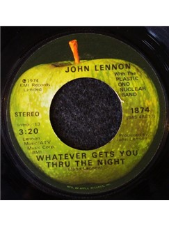 John Lennon: Whatever Gets You Through The Night Digital Sheet Music | Easy Piano