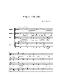 John Leavitt: Weep, O Mine Eyes Digital Sheet Music | SATB