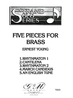 Ernest Young: Five Pieces For Brass Books | Brass Instruments, Piano Accompaniment