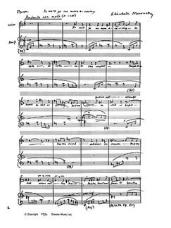 Elizabeth Maconchy: Three Songs (1974) Tenor/Harp Books   Tenor, Harp