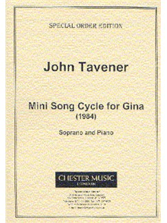 John Tavener: Mini Song Cycle For Gina (Score) Books | Soprano, Piano