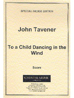 John Tavener: To A Child Dancing In The Wind (Score) Books | Soprano, Viola, Flute, Harp