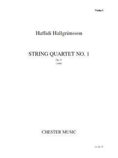 Hallgrimsson: String Quartet No.1 (Parts) Books | String Quartet