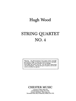 Hugh Wood; String Quartet No. 4 Op. 34 (Study Score) Books | String Quartet