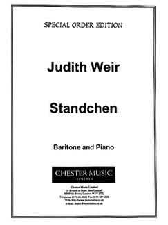 Judith Weir: Standchen Books | Baritone, Piano
