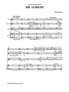 Kaija Saariaho: Die Aussicht (Score And Parts) Libro | Música de Cámara, Soprano, Flauta, Cello, Acompañamiento de Piano