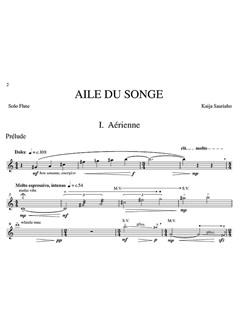 Kaija Saariaho: Aile Du Songe (Solo Flute Part) Books | Flute