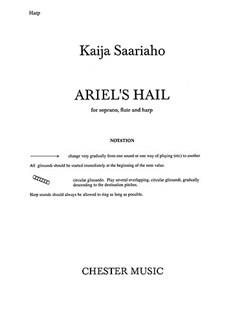 Kaija Saariaho: Ariel's Hail (Flute/Harp Parts) Books | Flute, Harp