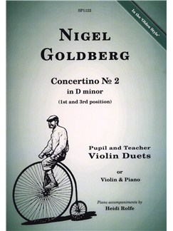 Nigel Goldberg: Concertino No.2 In D Minor Books | Violin, Piano Accompaniment