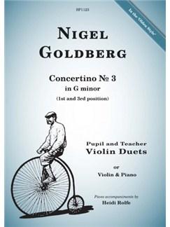 Nigel Goldberg: Concertino No.3 In G Minor Books | Violin, Piano Accompaniment