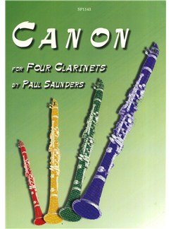 Paul Sanders: Canon for Four Clarinets Books | Clarinet (Quartet)