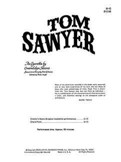 Tom Sawyer Director's Score Books | 2 Soprano, 2 Piano